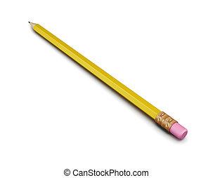 matita, fondo., isolato, interpretazione, bianco, 3d