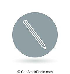 matita, illustration., semplice, segno., simbolo., vettore, grafite, affilato, icon.