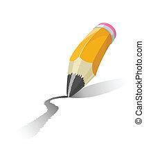 matita, illustrazione, vettore