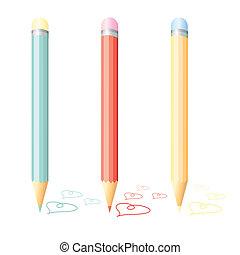 matita rossa, circondare