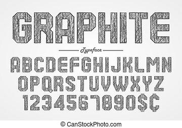 matita, sbarra, de, pub, mano, grafite, lavagna, font, disegno