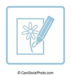 matita, schizzo, icona