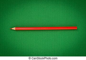 matita, verde rosso