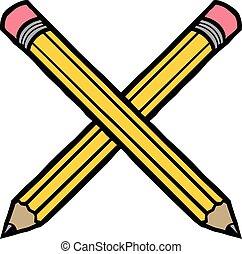 matita, vettore, giallo