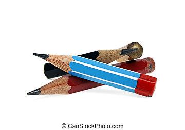 matite, bianco, isolato, fondo