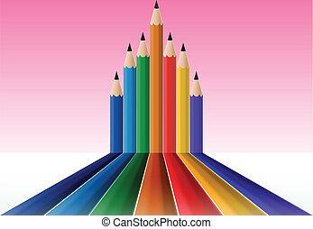matite, colore, vario, lunghezza, piombo