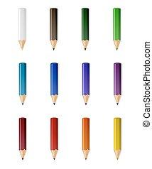 matite, colore, vettore