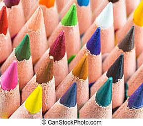matite, colorito, fondo