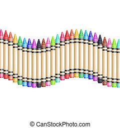 matite, fondo, recinto, colorito, cera