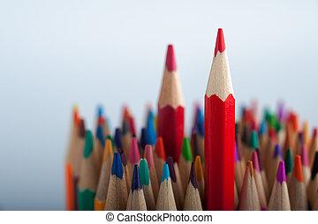 matite, luminoso, fondo, copyspace, colorito