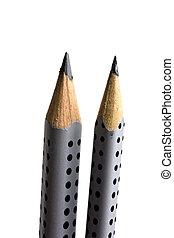 matite, su, fuoco