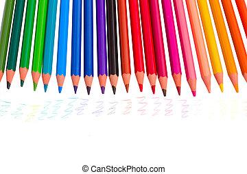 matite, tracce, colorito