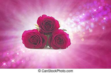 matkując, róże, niedziela, mamusia, twój, szczególny
