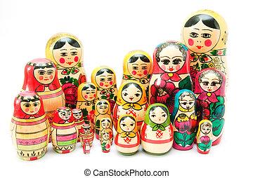 Matreshka. Set of nesting dolls