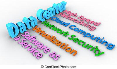 matrice, centro dati, parole, rete