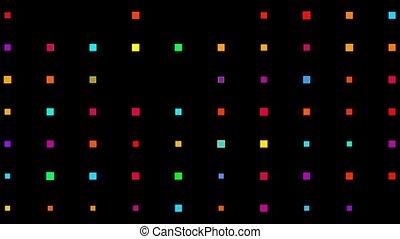 matrice, couleur carrée, élevé, arrière-plan., technologie