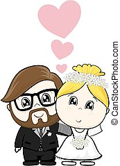 matrimonio, cartone animato