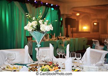 matrimonio, decorazioni, ristorante