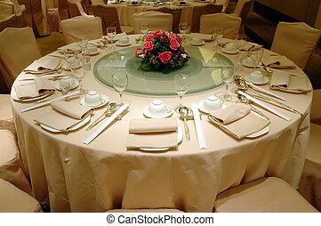 matrimonio, festeggiare tavola, regolazione