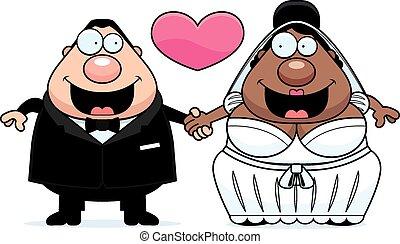 matrimonio interrazziale, cartone animato