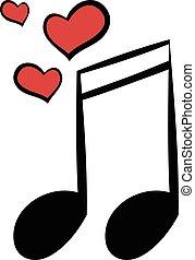 matrimonio, musica, cartone animato, icona