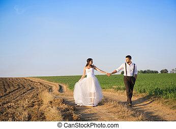 matrimonio, passeggiata