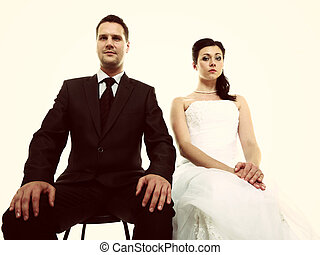matrimonio, problema, indiferencia, depresión, discordia