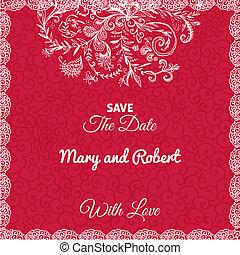 matrimonio, scheda, invito