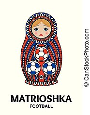 Matrioshka or nesting doll isolated on white background....