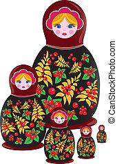 matrioshka russian doll - Matrioshka Russian traditional...