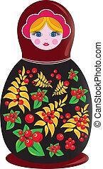 matrioshka russian doll - Russian matrioshka illustration...