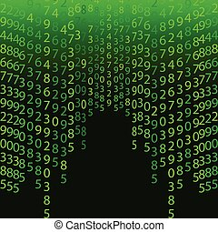 Matrix concept Abstract technology background. Programming, codi