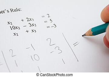 matriz, álgebra