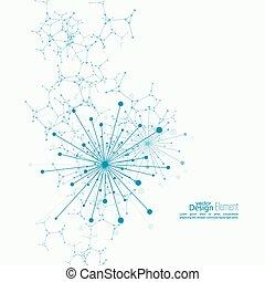 matriz, emitido, dinâmico, particles.