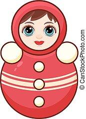 Matryoshka. Babushka doll. Children's toy. Best illustratin...