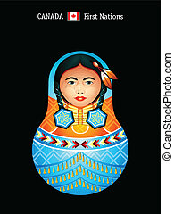 Matryoshka Canada - Matryoshkas of the World: first nations...