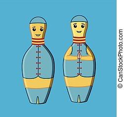 Matryoshka Dolls Vector Illustration