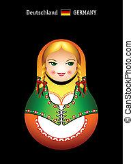 Matryoshka german girl - Matryoshkas of the World: german...