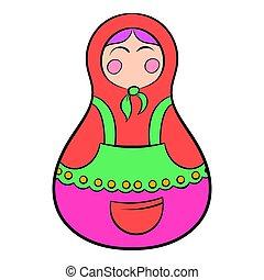 matryoshka, icône, dessin animé