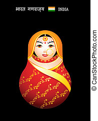 Matryoshka indian girl - Matryoshkas of the World: indian...