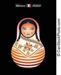 Matryoshka Mexico - Matryoshkas of the World: mexican indian...