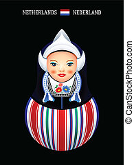 Matryoshka Netherlands - Matryoshkas of the World: dutch...