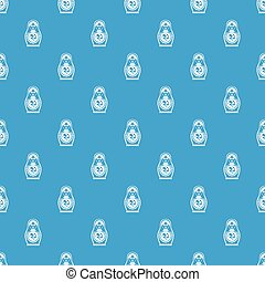Matryoshka pattern seamless blue