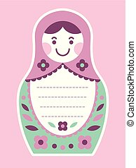 Matryoshka russian nesting doll greeting card