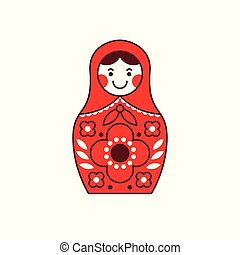 Matryoshka russian nesting doll, souvenir Russia -...