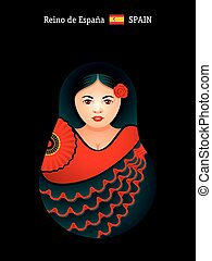 Matryoshka Spain - Matryoshkas of the World: spanish girl in...