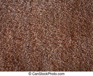 matta, brun, ull, makro