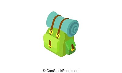 matte, animation, rucksack, ikone