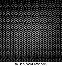 matte black mesh