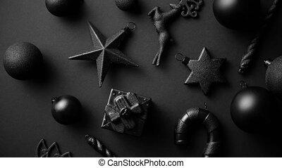 matte, zusammensetzung, minimalistic, farbe, weihnachten, einfache , schwarz